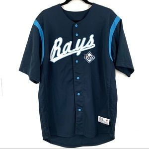 Rays button down embroidered jersey